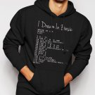 New Rare Basic Programming Language Computer Men Black Hoodie Sweater