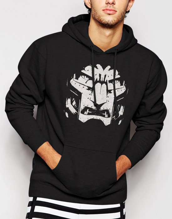 New Rare Fantastic Four Bad Guy Men Black Hoodie Sweater