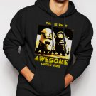 New Rare Minions Are Awesome Men Black Hoodie Sweater