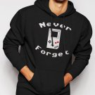 New Rare Never Forget Video Game Men Black Hoodie Sweater
