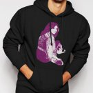 New Rare Selena Gomez Pop Star Singer Men Black Hoodie Sweater
