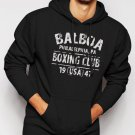 New Rare BALBOA BOXING CLUB ROCKY Men Black Hoodie Sweater