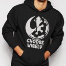 New Rare Choose Wisely Rebel Alliance Imperial Forces Men Black Hoodie Sweater