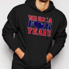 New Rare MERICA F$$K YEAH Men Black Hoodie Sweater
