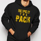 New Rare Respect the Pack Green Bay Packers Go Pack Men Black Hoodie Sweater