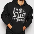 New Rare Straight Outta Pittsburgh Men Black Hoodie Sweater