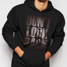New Rare The Walking Dead Fan Don't Look Back Men Black Hoodie Sweater