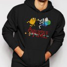 New Rare Adventure Time Jake Finn Cartoon Network Men Black Hoodie Sweater
