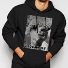 New Rare Bad Hair Day Llama Lama Men Black Hoodie Sweater