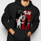 New Rare Spy Vs Spy Cartoon Men Black Hoodie Sweater