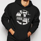 New Rare Test Pattern Vintage Retro TV Cool Men Black Hoodie Sweater