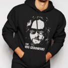 New Rare The Big Lebowski Face Walter Jesus Movie Men Black Hoodie Sweater