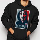 New Rare v for vendetta face hope Men Black Hoodie Sweater