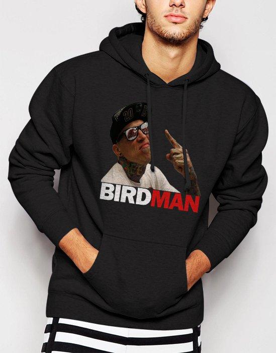 New Rare Chris Birdman Andersen FACE Men Black Hoodie Sweater