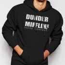 New Rare Dunder Mifflin PAPER The Office Funny SCHRUTE Men Black Hoodie Sweater