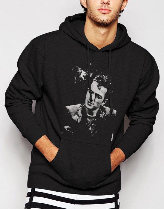 New Rare Joe Strummer Men Black Hoodie Sweater