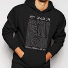 New Rare Joy Division-unknown pleasures rock band retro music Men Black Hoodie Sweater