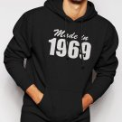 New Rare Made In 1969 Mens Birthday Gift Tee Men Black Hoodie Sweater