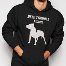 New Rare MY BEST FRIENDS A PITBULL Men Black Hoodie Sweater