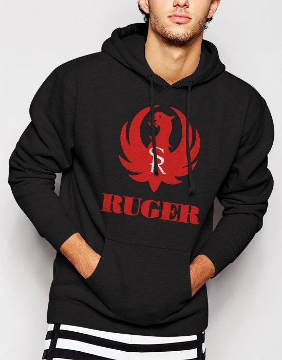New Rare Ruger Firearms Men Black Hoodie Sweater