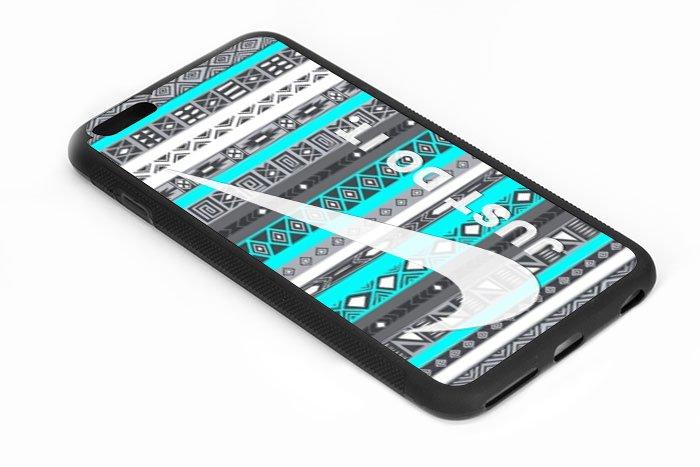 Aztec Mint Just Do It iPhone 6s 5.5 Inch Black Case