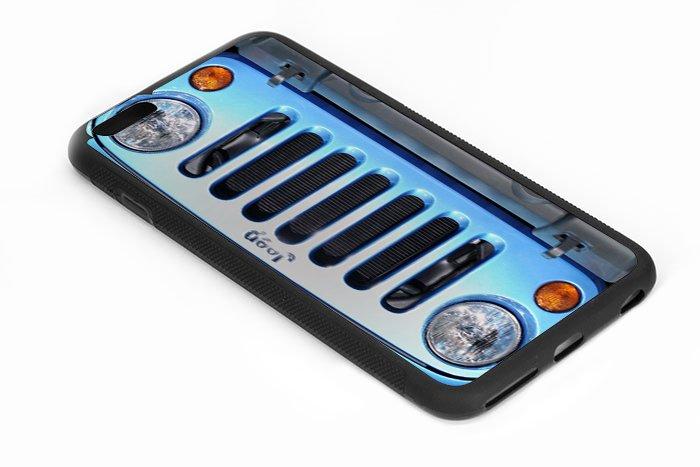 Jeep Wrangler Blue Iphone 6s 5.5 Inch Black Case
