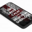 KEEP CALM AND BELIEVE IN SHERLOCK Iphone 6s 5.5 Inch Black Case