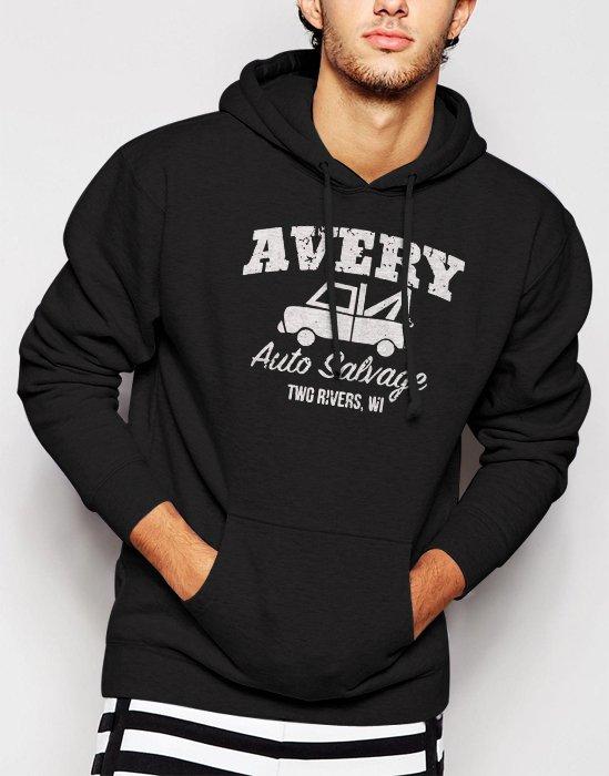 Avery Auto Salvage documentary wisconsin Men Black Hoodie