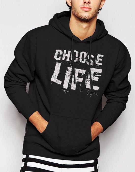 Choose Life Wham George Michael Men Black Hoodie
