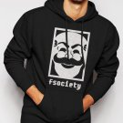 MR Robot F Society Men Black Hoodie