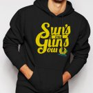 Suns out Guns out summer vacation Men Black Hoodie