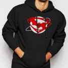 SUPERMAN vs BATMAN Inspired Down of justice Men Black Hoodie