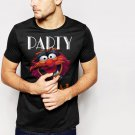 New Hot Animal Muppets Top Funny Humour Party Black T-Shirt for Men