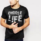 New Hot Choose Life Wham George Michael Black T-Shirt for Men