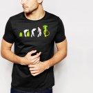 New Hot Evolution of Alien Funny Sci-Fi Black T-Shirt for Men