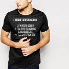 New Hot I KNOW I SWEAR A LOT FUNNY SLOGAN Black T-Shirt for Men