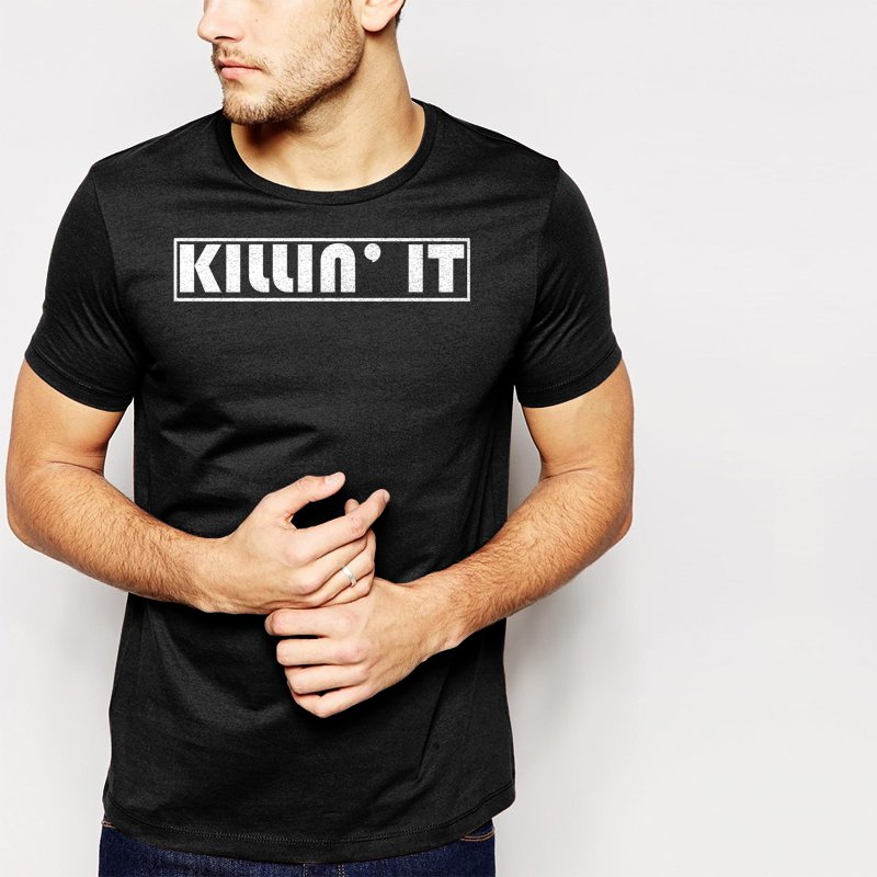 New Hot Killin It T Tumbrl Wifey Homies Black T-Shirt for Men