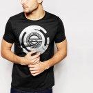 New Hot Laughing Man Ghost in the Shell Anime Mange Hacker Black T-Shirt for Men