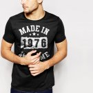 New Hot Made In 1976 - 40 Years Of Being Awesome Birthday Black T-Shirt for Men