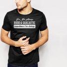 New Hot RUDE & SARCASTIC FUNNY HUMOUR Black T-Shirt for Men