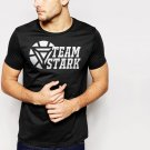 New Hot Team Stark Iron Man Civil War Movie Black T-Shirt for Men