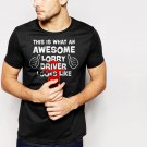 New Hot This Is What An Awesome Lorry Driver Looks Like - Scania Truck Black T-Shirt for Men