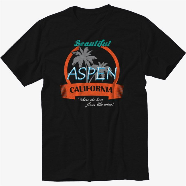 Aspen California Funny Dumb And Dumber Black T-Shirt