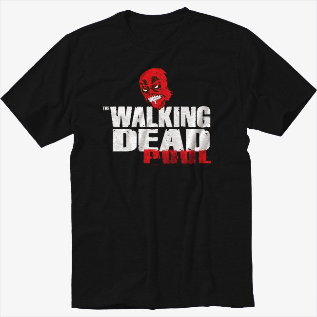 The Walking Dead Deadpool Black T-Shirt