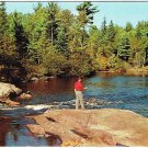 Ontario Postcard Lyle's Corners Fishing