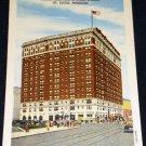 VINTAGE Hotel Melbourne St Louis Postcard Linen