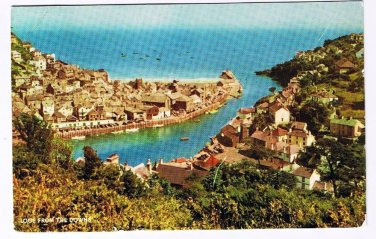 England UK Postcard Looe From The Downs