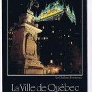 Quebec Laminated Postcard RPPC La Ville de Quebec City Chateau Frontenac