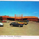 Tumwater Washington Postcard Tyee Motor Inn Old Cars 1960s