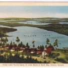VINTAGE North Bay Ontario Postcard Tilden Lake Tourist Camp